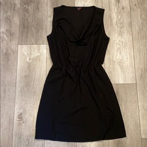 Guess Cowl Neck Mini Dress With Elastic Waist